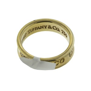 TIffany & Co 18k Yellow Gold 1837 Ring