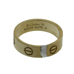 Cartier 18k Yellow Gold Love Ring Size 56