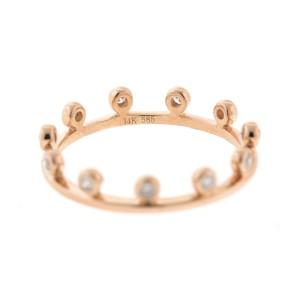 14k Rose Gold Crown Style Ring