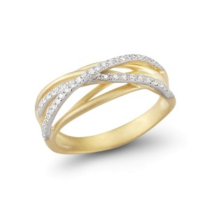 I.Reiss 14K Yellow Gold 0.23 Ring Size 7