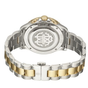 Roberto Cavalli Silver Two Tone SS/IPYG Stainless Steel  RV1G014M0086 Watch