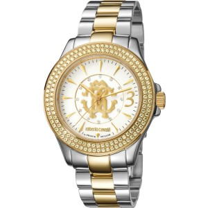Roberto Cavalli Silver Two-Tone SS/IPYG Stainless Steel  RV1L002M0136 Watch