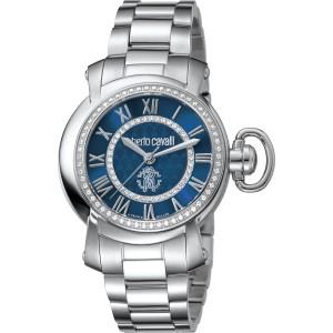 Roberto Cavalli Blue Silver Stainless Steel  RV1L004M0076 Watch
