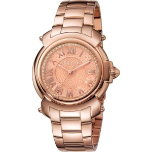 Roberto Cavalli Rose IPRG Stainless Steel  RV1L005M0066 Watch