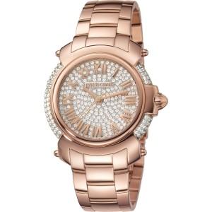 Roberto Cavalli Silver Gold Stainless Steel  RV1L006M0056 Watch
