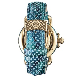 Roberto Cavalli Silver Sky Blue Calfskin Leather RV1L017L0076 Watch