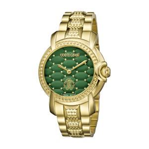Roberto Cavalli Green Gold Stainless Steel  RV1L019M0116 Watch