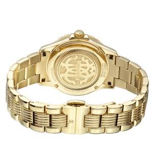 Roberto Cavalli Gold MOP Gold Stainless Steel  RV2L014M0076 Watch