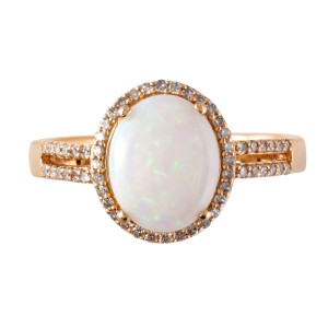 14k Yellow Gold Opal Ring Size 7