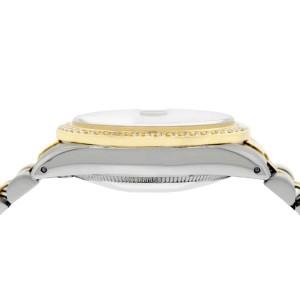 Rolex Datejust 2-Tone 18K Gold/SS Midsize 31mm Womens Watch with Tahitian MOP Dial & Diamond Bezel