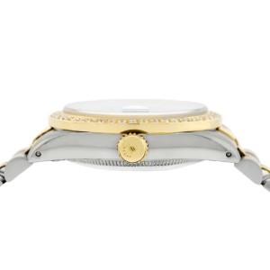 Rolex Datejust 2-Tone 18K Gold/SS Midsize 31mm Womens Watch with Champagne Diamond Dial & Bezel