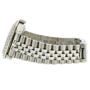 Rolex Datejust 36MM Steel Watch with 3.05Ct Diamond Bezel/Black Pearl Diamond Dial