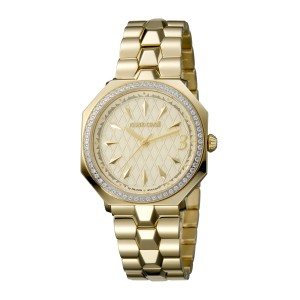 Roberto Cavalli Gold Gold Stainless Steel  Rv1L024M0076 Watch