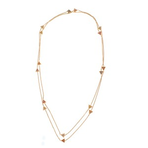 18K Rose Gold Multi Colored Sapphires SaharA Chain Necklace