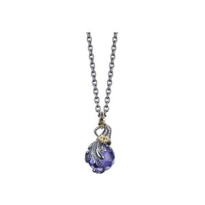 Stephen Webster Stainless Steel/Yellow Gold Plated Blue Violet Crystal & Diamond Necklace