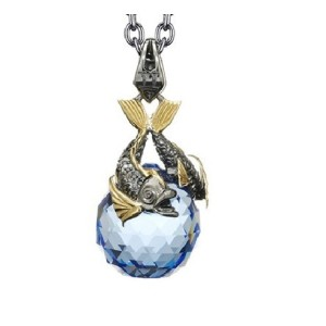 Stephen Webster Stainless Steel/Yellow Gold Plated Sapphire Cystal & Diamond Necklace