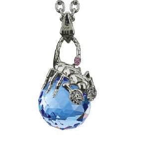 Stephen Webster Stainless Steel with Sapphire Crystal & Diamond Necklace