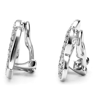 Piaget White Gold & Diamond Two Heart Earrings