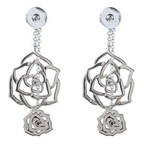 Piaget White Gold & Diamond Rose Earrings