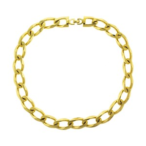 Dior Gold Tone Link Necklace