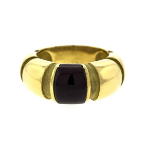 18k Yellow Gold Moubussin Red Stone Ring