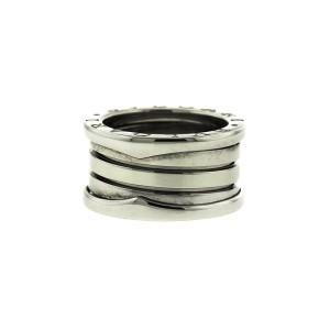 Bvlgari 18k White Gold B.zero 4 Band Ring Size 48