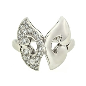 Bvlgari Platinum and Diamond Butterfly Ring