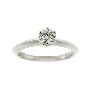 Platinum Tiffany & Co. Diamond Engagement Ring