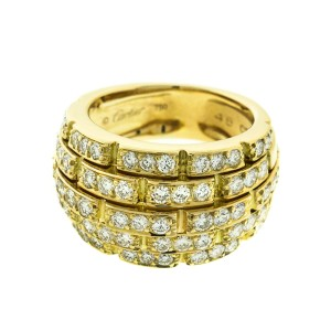 Cartier 18k Yellow Gold Link Diamond Ring