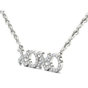 1/6ct TDW Diamond Fashion XO Necklace in 10K