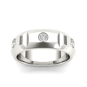 1/4ct TDW Diamond Men's Wedding Band In 14K