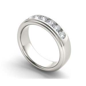 1ct TDW Diamond Men's Wedding Band In 14K