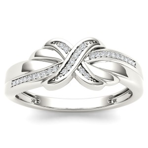 Diamond Accent Fashion Ring in 10K