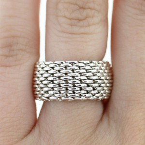 Tiffany Sterling Silver Somerset Mesh Ring