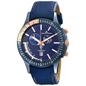 Jacques Lemans U44A UEFA Champions League Analog Display Quartz Blue Mens Watch