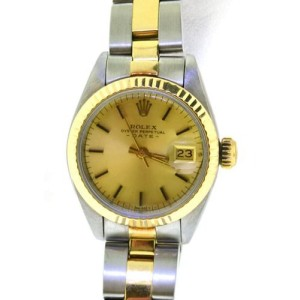 Rolex 14K Gold Stainless Steel Womens Watch