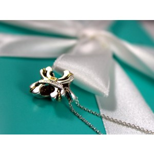 Tiffany & Co. 18K Yellow Gold & Sterling Silver Pendant Necklace
