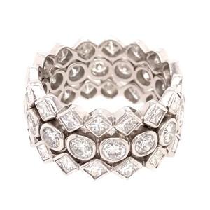 Elegant Wide Platinum Diamond Band Ring