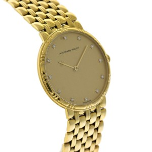 Audemars Piguet 18K Yellow Gold Diamond Dial Vintage Womens Watch