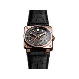 Bell & Ross Aviation BR03-90-SS/RG Rose Gold Mens 42mm Watch