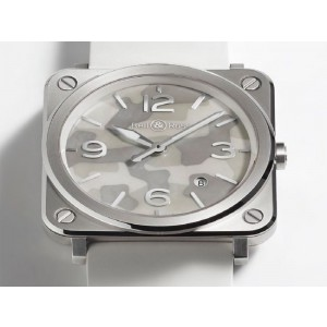 Bell & Ross Camouflage BRS-GREY CAMO Stainless Steel Mens 39mm Watch