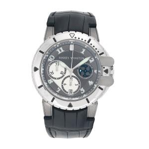Harry Winston Platinum & Zalium Project Z2 Ocean Limited Edition Mens Watch