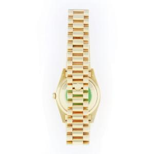 Rolex 18K Yellow Gold Jubilee Dial Custom Diamond Bezel Watch