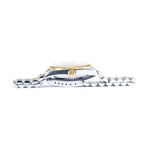 Rolex Datejust Stainless Steel 18K Yellow Gold Fluted Bezel Watch