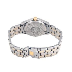 Omega Seamaster 2311.21 120M Swiss Quartz Date 18K Gold & Steel Men's White Watch