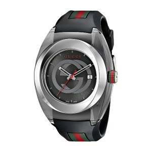 Gucci SYNC XXL YA137101 Stainless Steel with Black Rubber Bracelet Watch