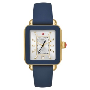 Michele Deco Sport Watch Head & Silicone Strap Watch
