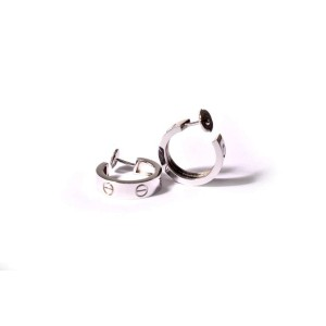 Cartier White Gold Love Earrings