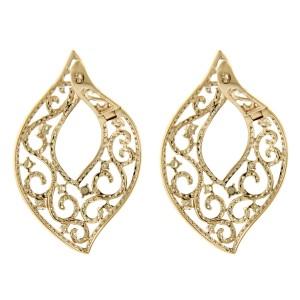 14K Rose Gold Diamond Fashion Drop Earrings