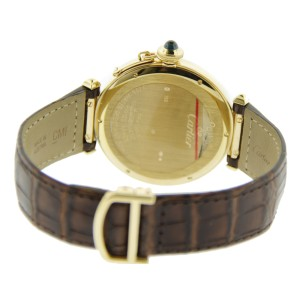 Cartier 18K Yellow Gold Pasha 42mm Leather Watch